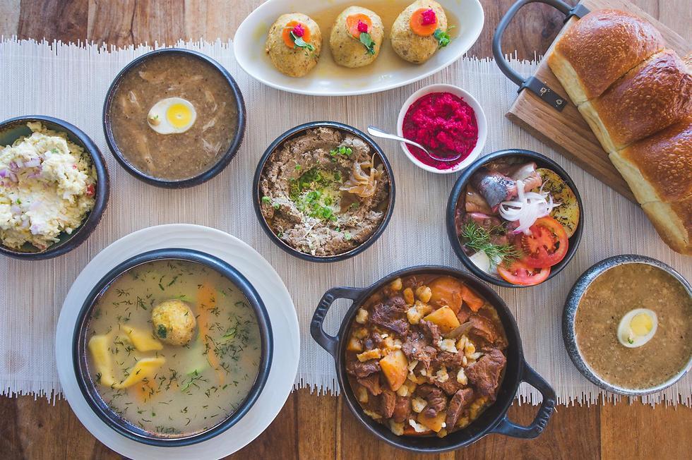"""אוכל מזרח אירופאי במסעדת """"בבלה"""" (צילום: יח""""צ) (צילום: יח"""