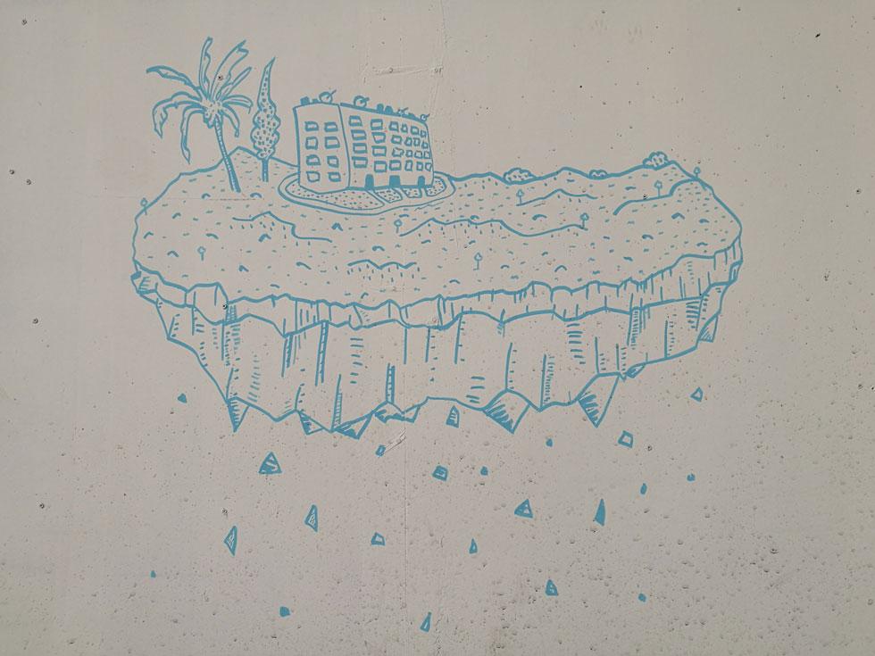 בית הוא חלום. ציור קיר בתל אביב  (צילום: ציפה קמפינסקי)