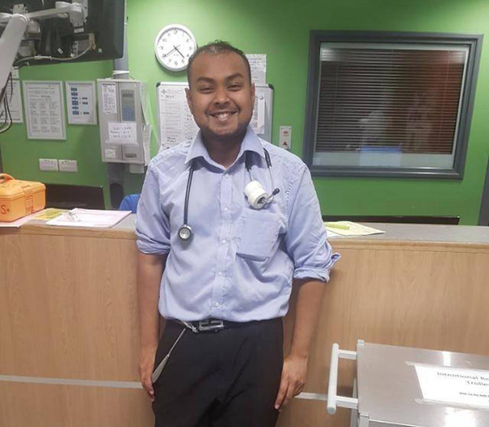 Dr. Zaman at work