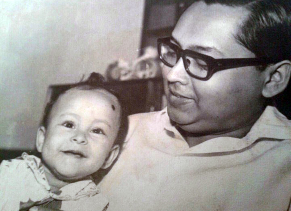 With his grandfather. 'He was the first Bangladeshi Zionist. He always taught me to respect people and told me to read about Judaism and the Jewish people'