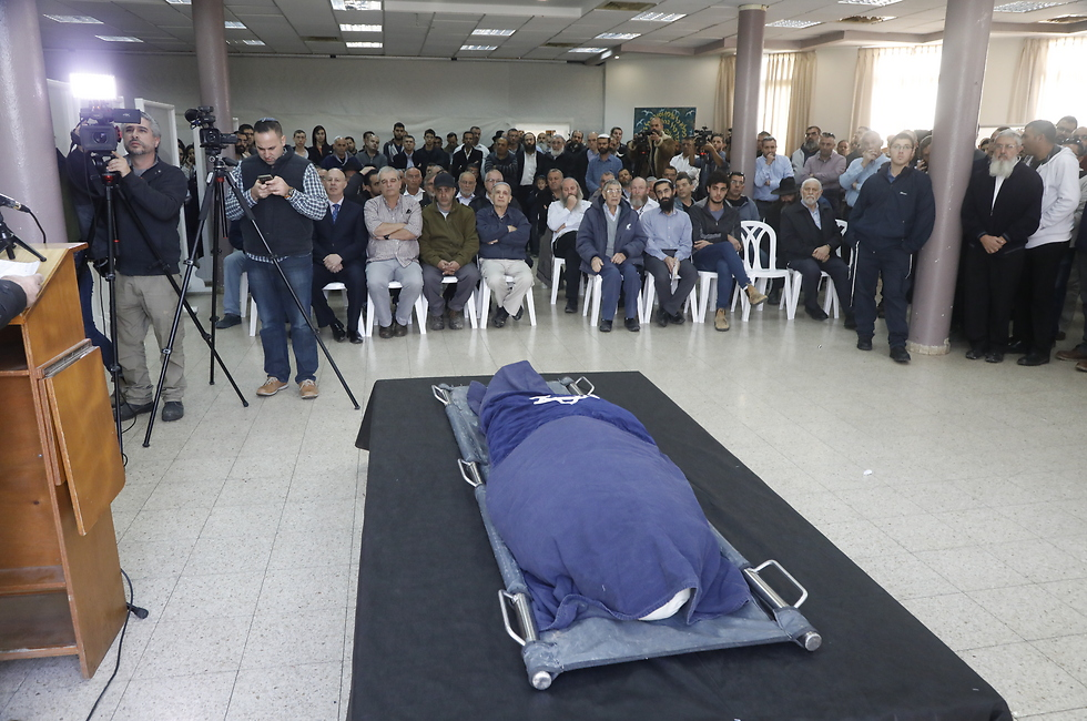 Hodaya Asulin's funeral Wednesday (Photo: Shaul Golan)