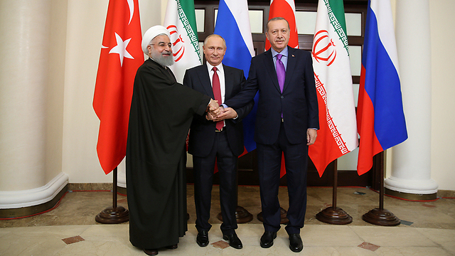 The three leaders met in Sochi Wednesday (Photo: Reuters)