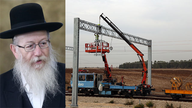 Health Minister Yaakov Litzman (Photo: Alex Kolomoisky and Ofer Meir)