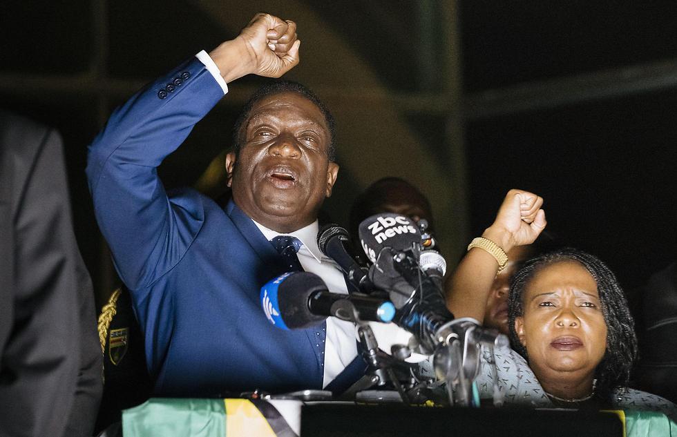 סגן הנשיא שהודח יושבע ביום שישי לנשיא זימבבואה. אמרסון מנאנגאגווה (צילום: AFP) (צילום: AFP)