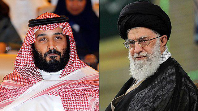 Prince Bin Salman (L) and Iran's Supreme Leader Khamenei (Photos: Reuters)
