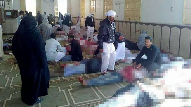 Victims of the attack lying dead in the mosque (Photo: MCT)