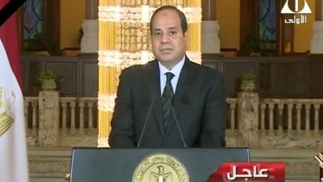 Egyptian President el-Sisi announced a military operation in Sinai (Photo: Reuters)