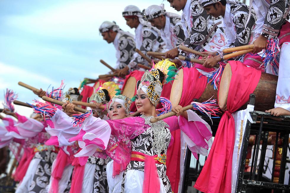 ריקוד מסורתי באירוע לקידום התיירות בבאלי, אינדונזיה (צילום: AFP) (צילום: AFP)