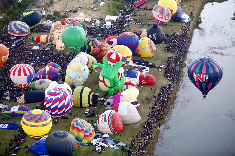 פסטיבל כדורים פורחים במדינת גואנחואטו, מקסיקו (צילום: EPA) (צילום: EPA)