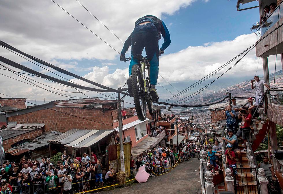מרוץ אופניים במדיין, קולומביה (צילום: AFP) (צילום: AFP)