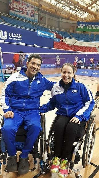 אמיר לוי (משמאל) ונינה גורודצקי  (צילום: באדיבות הוועד הפראלימפי)