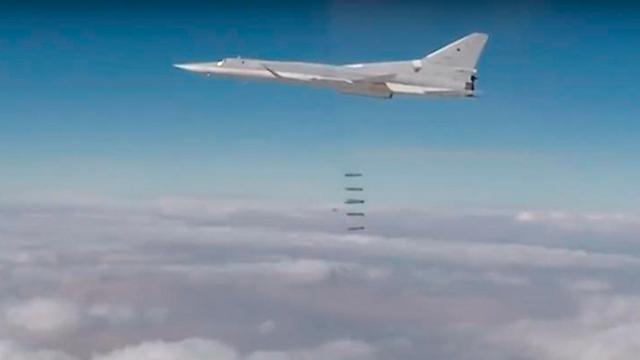 מטוס קרב רוסי בשמי סוריה (צילום: EPA)