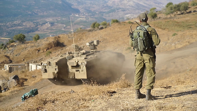 Golani trains using the Namer APC (Photo: IDF spokesman)