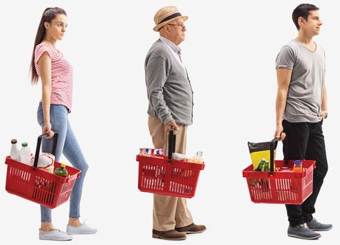 מחקרים הראו שהלקוחות מרוצים כשהם נעמדים בתור אחד ארוך, ומופנים לקופה הפנויה כשתורם מגיע (צילום: Shutterstock)