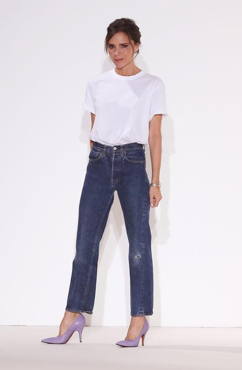 גרמה לכולם להתאהב מחדש בקסם הג'ינס. ויקטוריה בקהאם (צילום: Gettyimages)