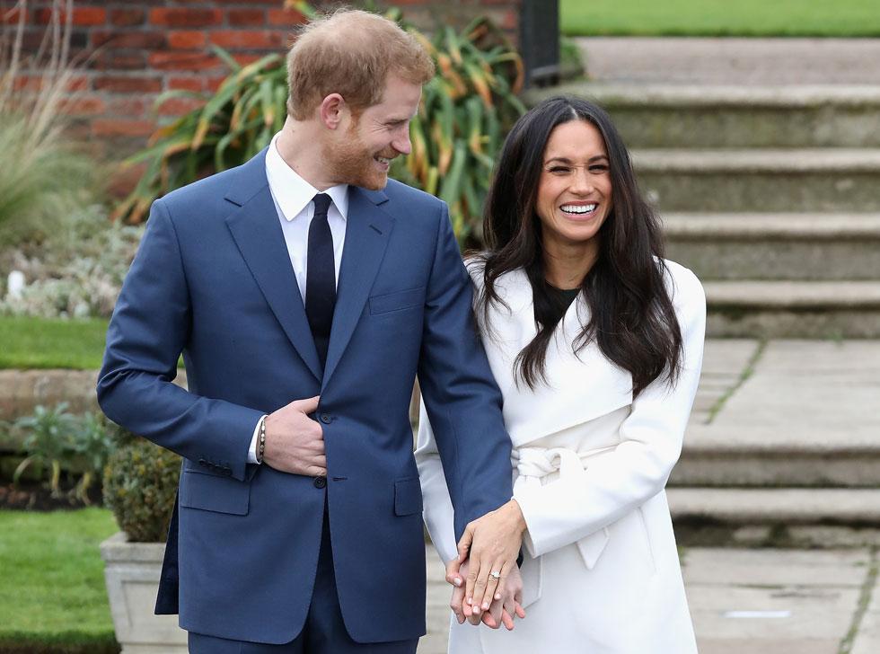 מייגן מרקל, הנסיך הארי וטבעת האירוסין. הפכה ברגע לאייקון אופנה בהתהוות (צילום: Gettyimages)