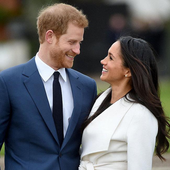 אנחנו נמסים פה. הנסיך הארי ומייגן מרקל (צילום: AFP)