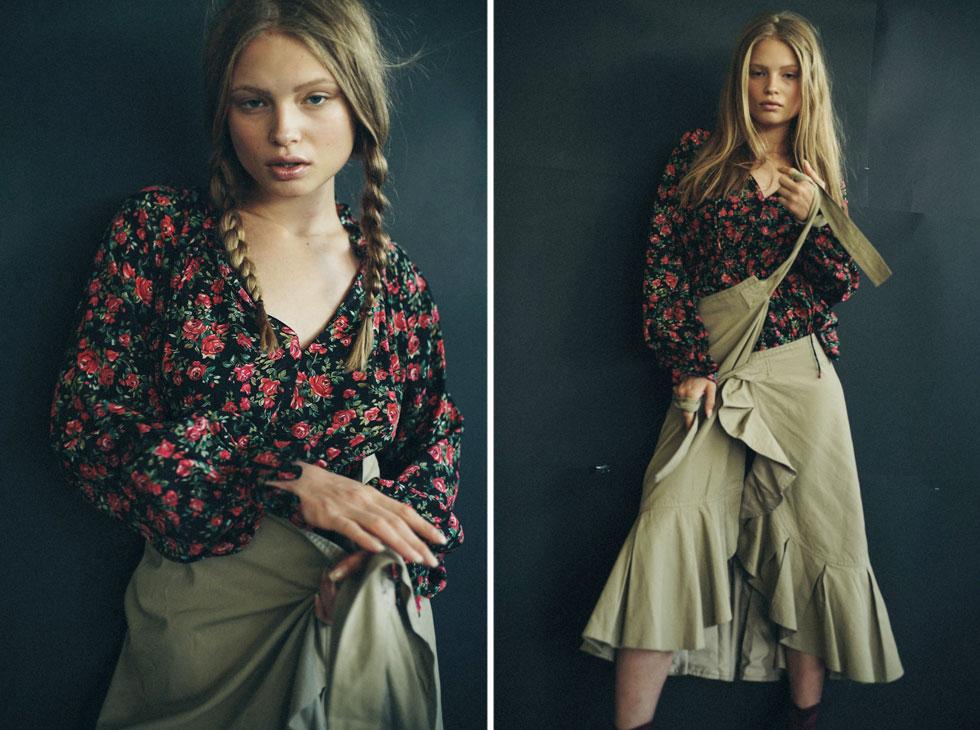חולצה, בלנסיאגה בבוטיק אמור; חצאית, גאני בעמנואל (צילום: אלון שפרנסקי)
