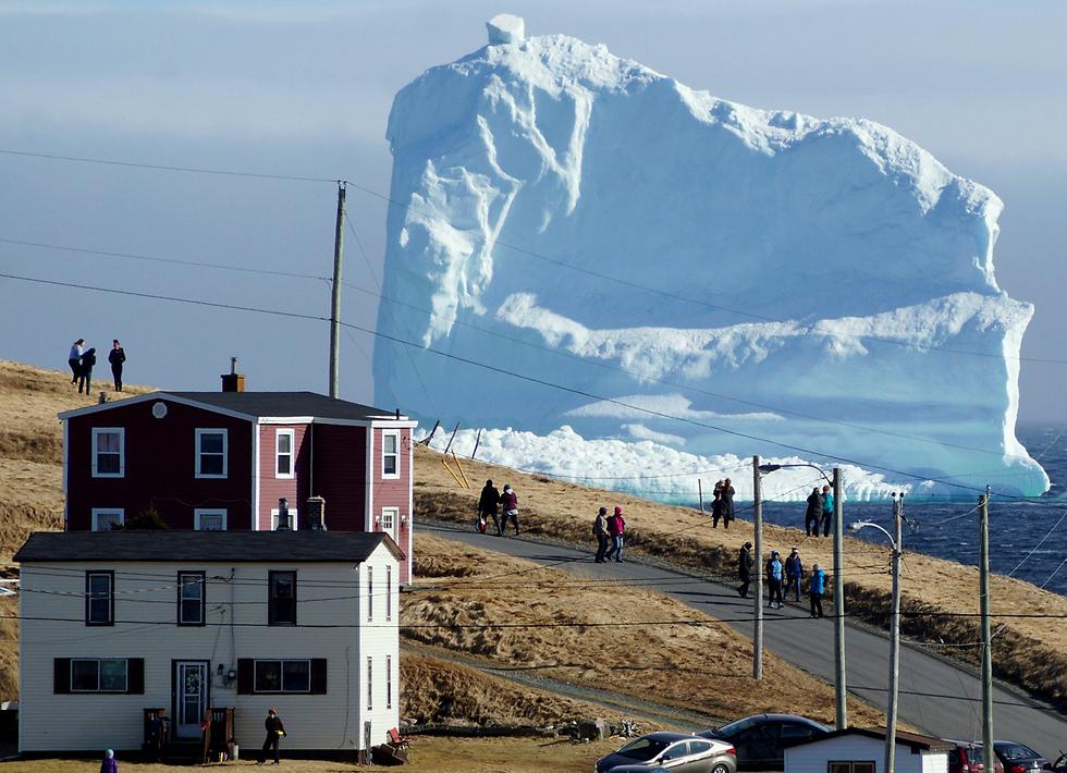 קרחון ענק צף בקנדה (צילום: רויטרס)