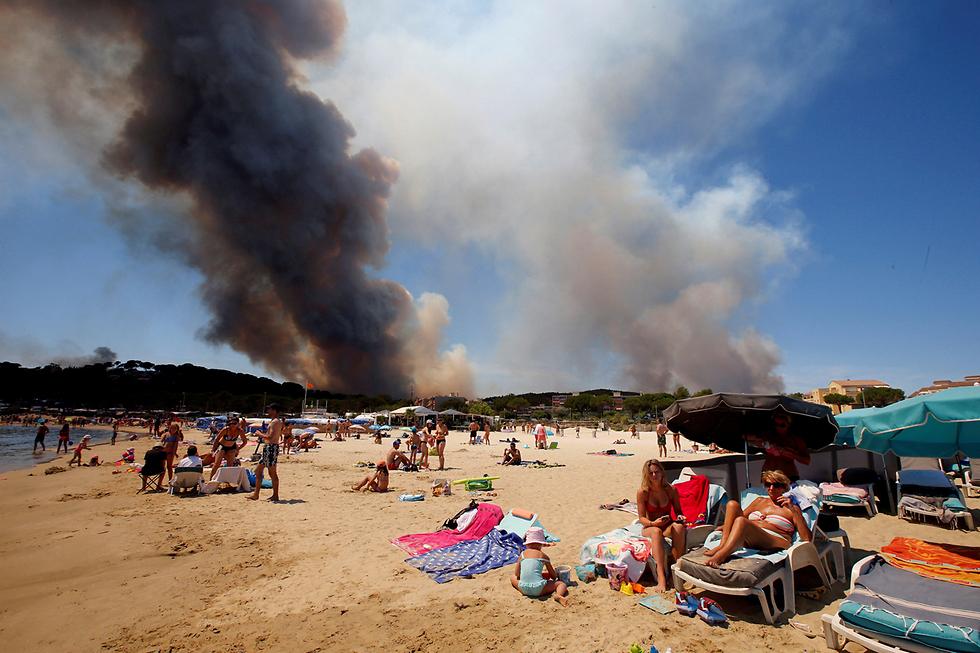 שריפות פרצו בקיץ בריביירה בצרפת, אבל יש מי שלא היה מודאג (צילום: רויטרס)