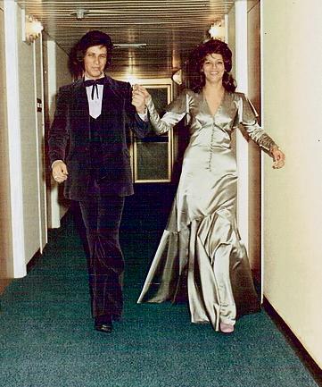"""בחתונתם ב־1973. """"קראו לזה חתונת המרגרינה"""""""