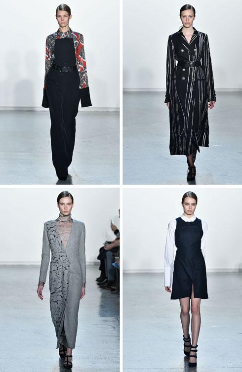 על המסלול בשבוע האופנה בניו יורק: קולקציית סתיו-חורף 2015-16 של נונו (צילום: Gettyimages)