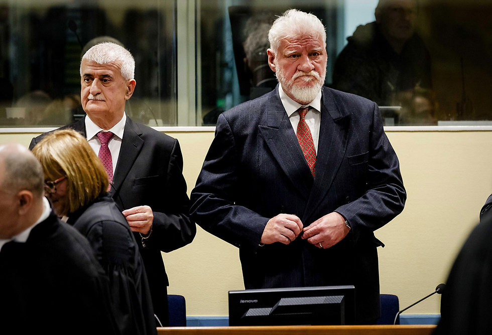 Praljak at court, minutes before the incident (Photo: EPA)