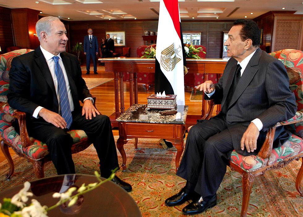 מובארק ובנימין נתניהו בפגישה בשארם א-שייח. ארכיון (צילום: AP)
