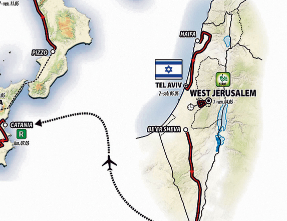 The map of the race with reference to 'West Jerusalem'