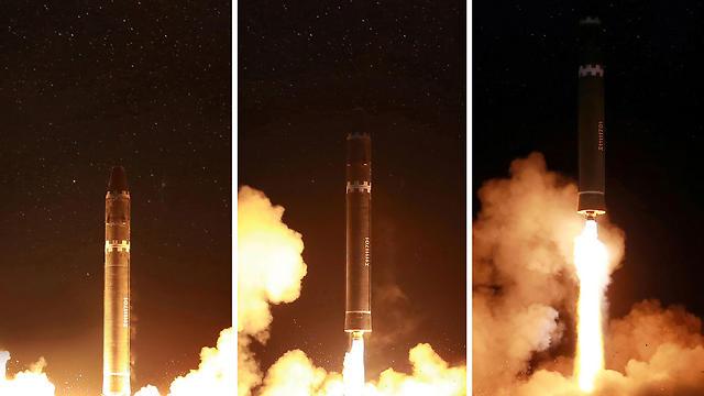 ניסוי טילים צפון קוריאני. קים באמת מוכן לוותר על הנשק הגרעיני? (צילום: AFP) (צילום: AFP)