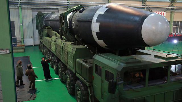 הטיל הבין-יבשתי ששוגר בשבוע שעבר (צילום: AP) (צילום: AP)