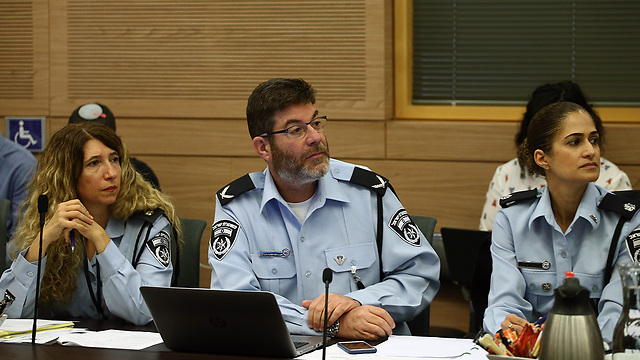 Police representatives at the meeting (Photo: Ohad Zwigenberg)