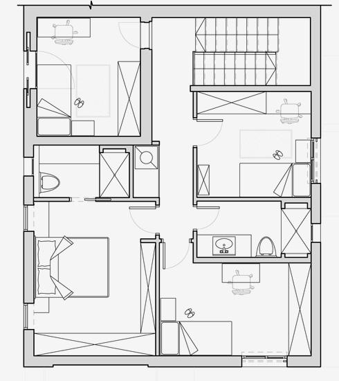 ואחריו. שלושה חדרי שינה הפכו לארבעה (תכנית: רוני ברטל שלם)