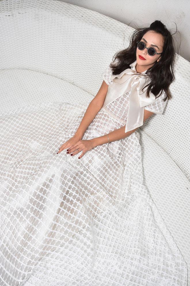 אחווה סיטבון בשמלה של מתן שקד (צילום: איתן טל)