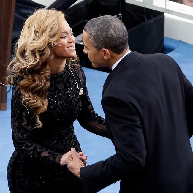 המלכה והנשיא. ברק אובמה וביונסה (Gettyimages)