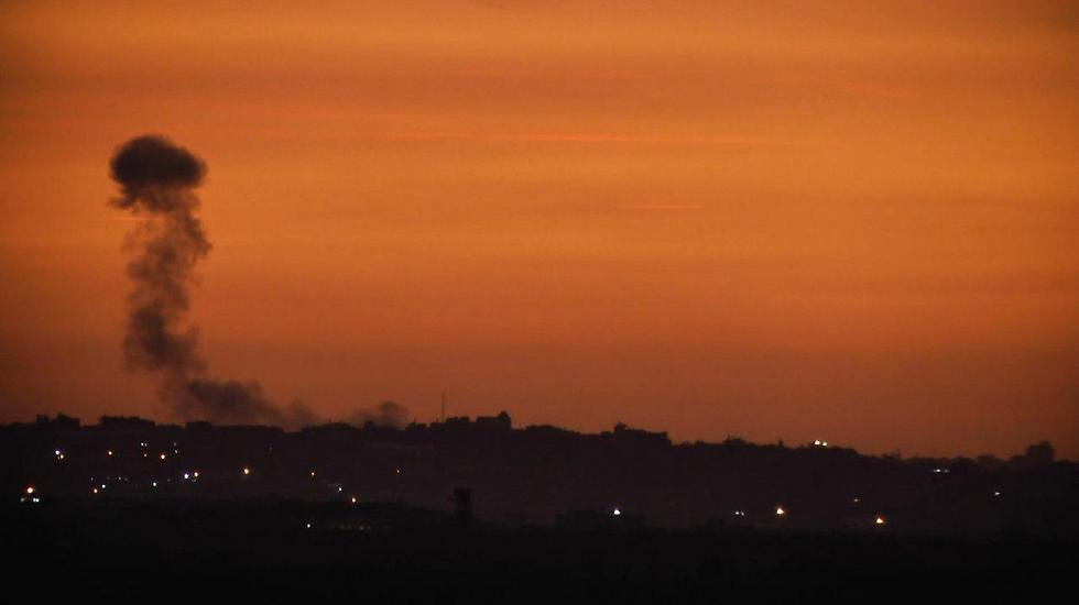 IAF strike in Gaza in response to mortar shell barrage last week (Photo: Roee Idan)
