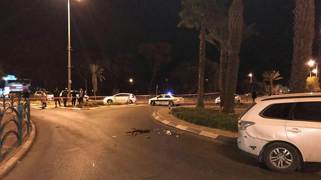 Scene of the stabbing (Photo: Israel Police)