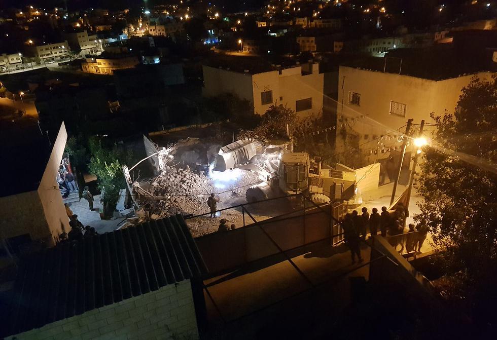 Terrorist Abu al-Rob's home was demolished overnight (Photo: IDF Spokesperson's Unit)