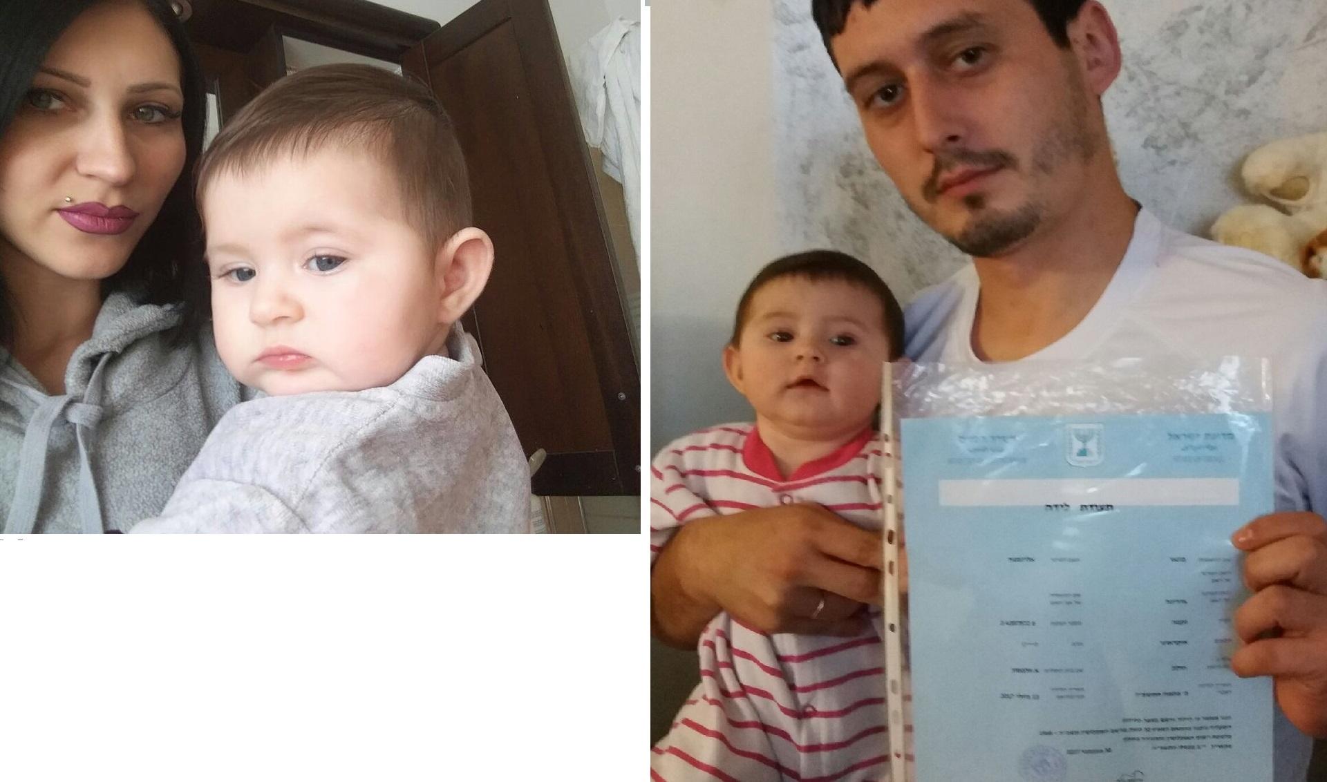 Лиза Бугай с матерью Ириной до получения документа и с отцом Сергеем - после. Фото предоставлено семьей