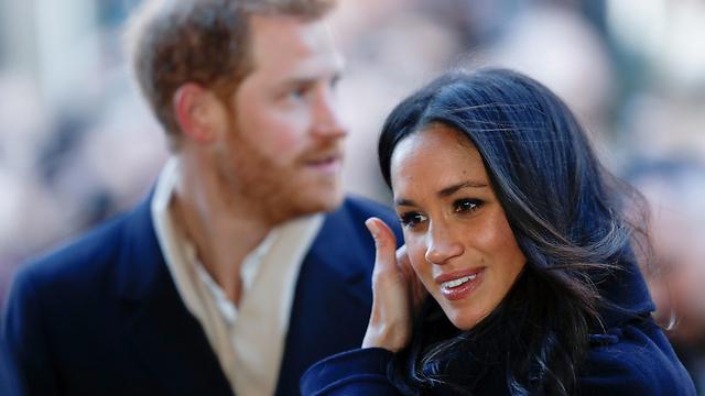 הנסיכה לעתיד מרקל לצד הנסיך הארי (צילום: AP) (צילום: AP)