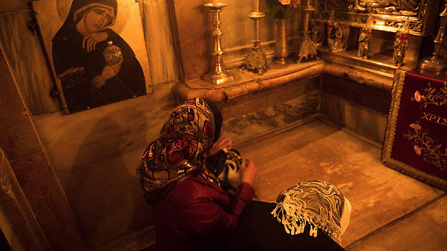 The purported tomb of Jesus in the Holy Sepulchre's Edicule (Photo: Reuters)
