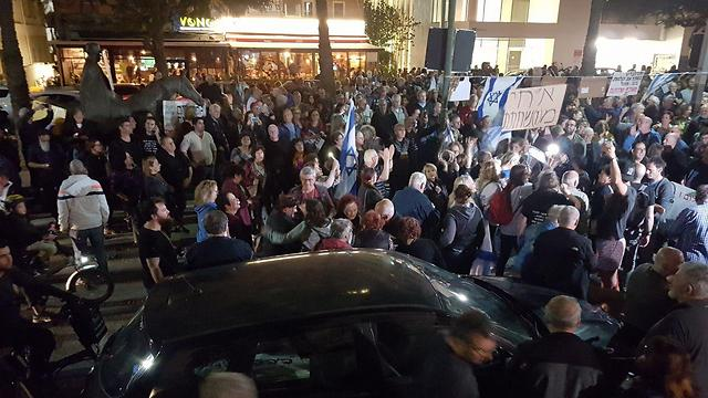 Protesters in Tel Aviv (Photo: Barel Efraim)