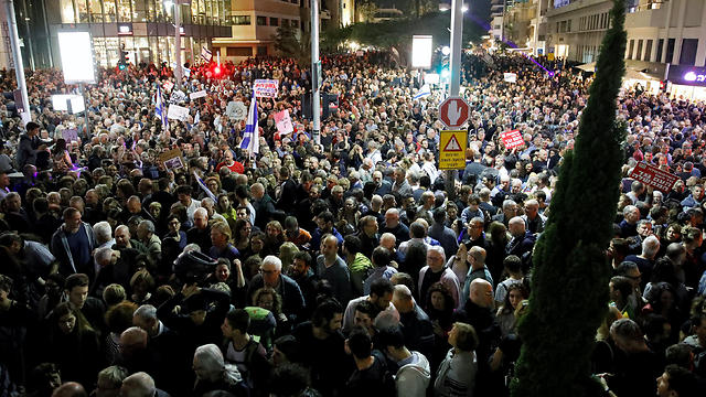 Saturday evening's protest. The 2011 protest didn't draw hundreds of thousands of people at its inception either (Photo: Reuters)