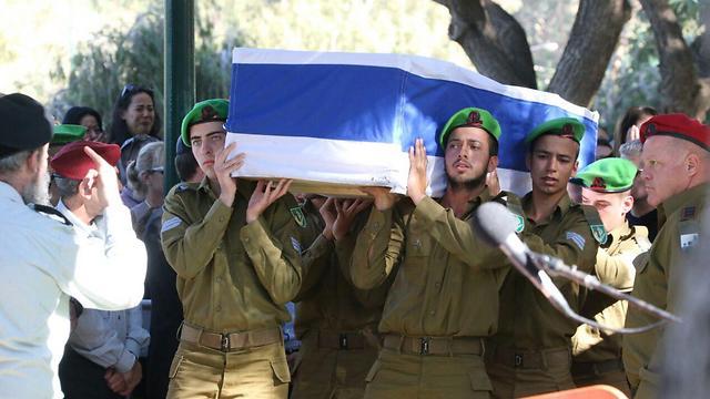 Sgt. Kokia's funeral (Photo: Motti Kimchi)