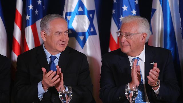 PM Benjamin Netanyahu (L) with US ambassador to Israel Friedman (Photo: Alex Kolomoisky)