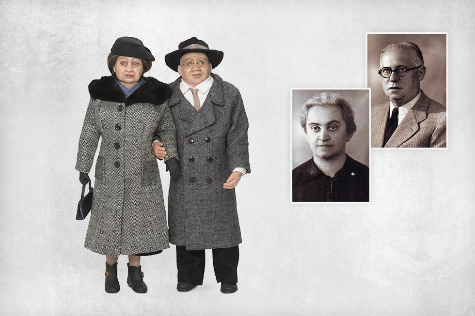 הסבים מצד האב, משה ורוזה זייפן שניהם נספו במיידנק (צילום: רמי זרנגר, אלבום פרטי)