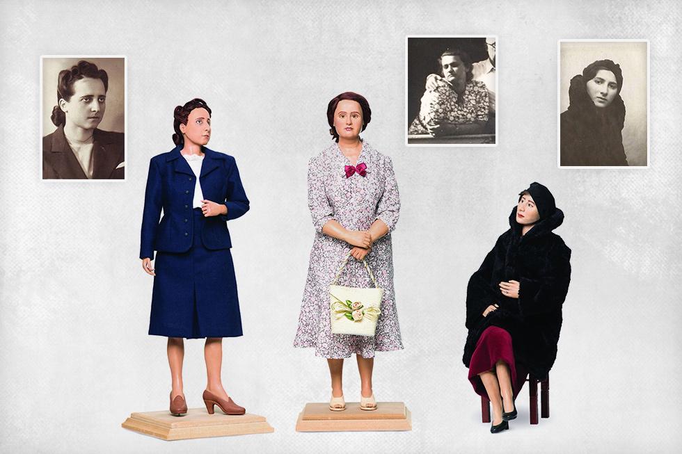 הדודות (מימין): אווה פסט וגוטה ורומה זייפן. ההורים לא דיברו עליהן (צילום: רמי זרנגר, אלבום פרטי)