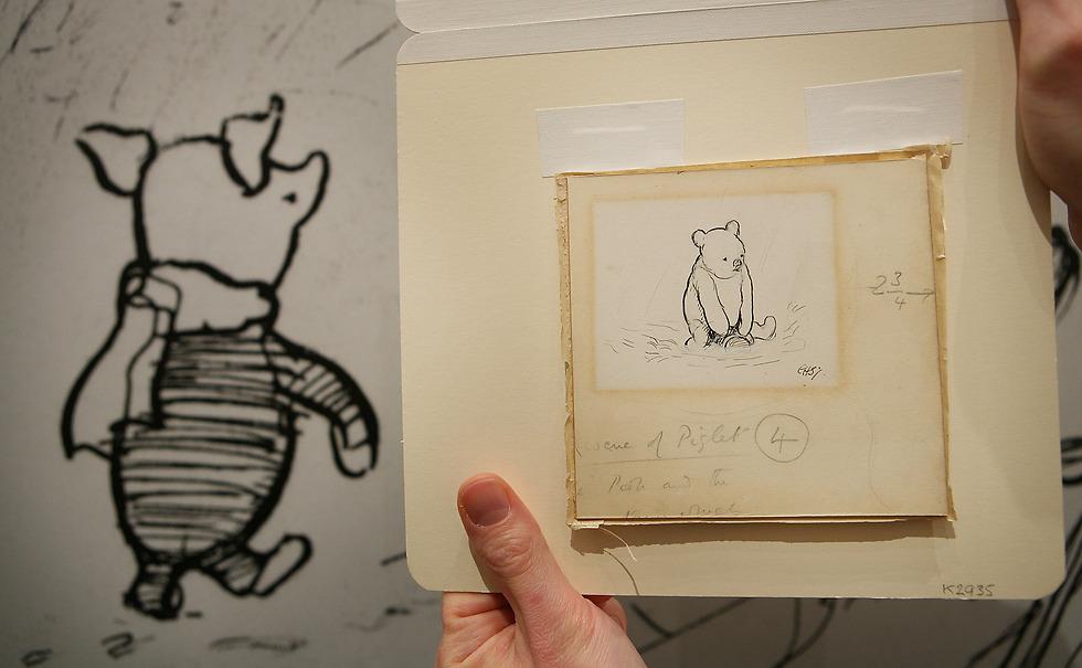 איורים מקוריים של שפרד שהועמדו למכירה פומבית בסות'ביס (צילום: gettyimages) (צילום: gettyimages)