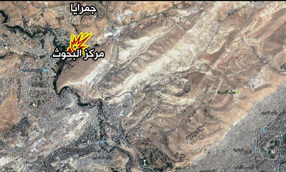 מיקום התקיפה (בצהוב)