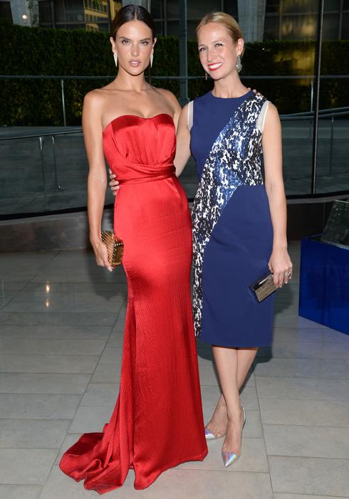 Нону и модель Александра Амбросио. Фото: AP